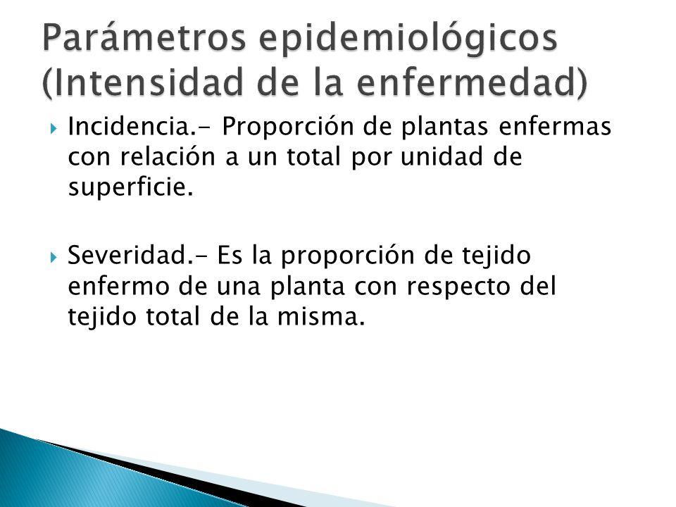Parámetros epidemiológicos (Intensidad de la enfermedad)