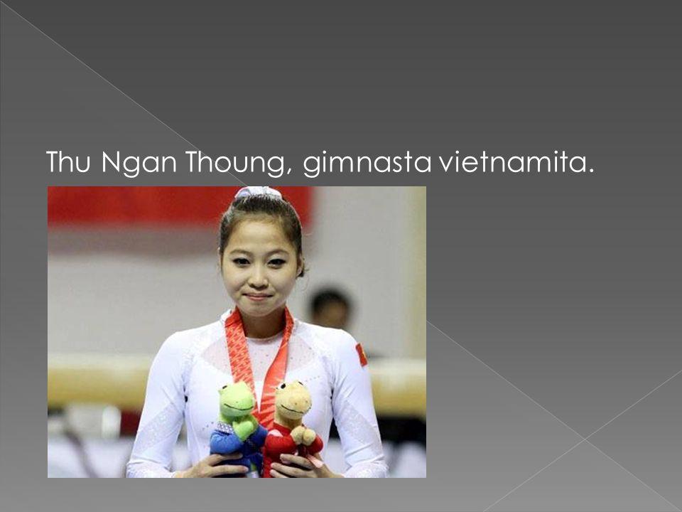Thu Ngan Thoung, gimnasta vietnamita.