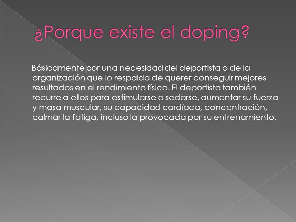 ¿Porque existe el doping