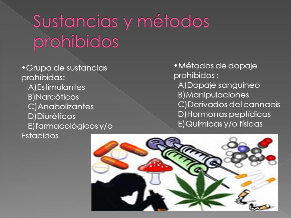 Sustancias y métodos prohibidos