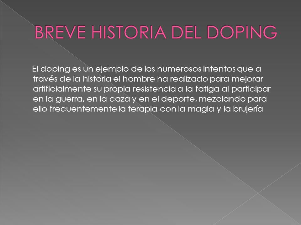 BREVE HISTORIA DEL DOPING