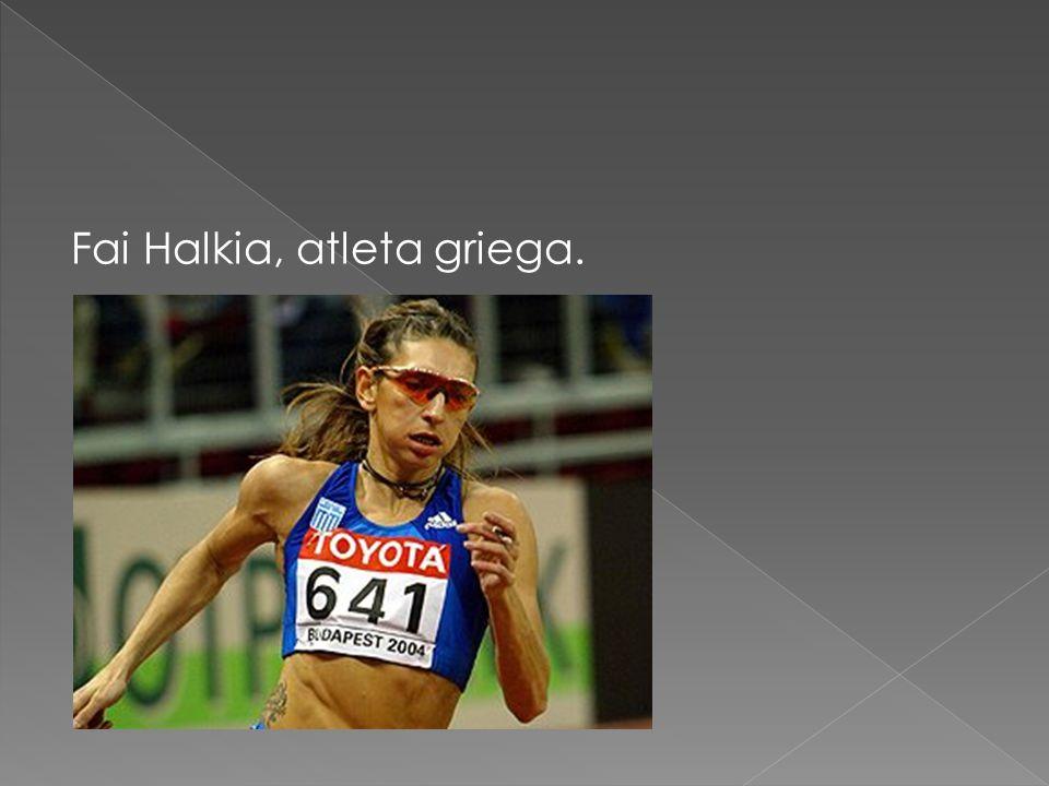 Fai Halkia, atleta griega.