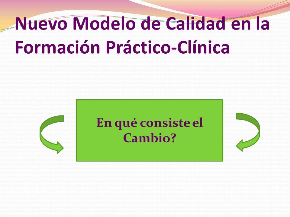 Nuevo Modelo de Calidad en la Formación Práctico-Clínica