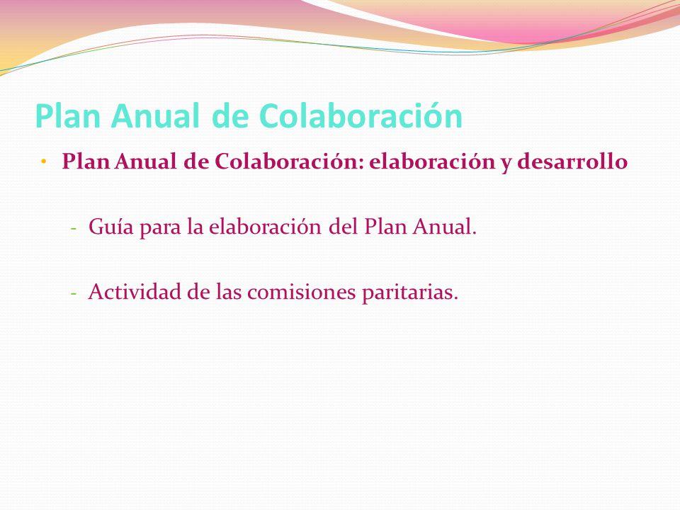 Plan Anual de Colaboración