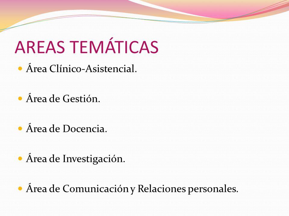 AREAS TEMÁTICAS Área Clínico-Asistencial. Área de Gestión.