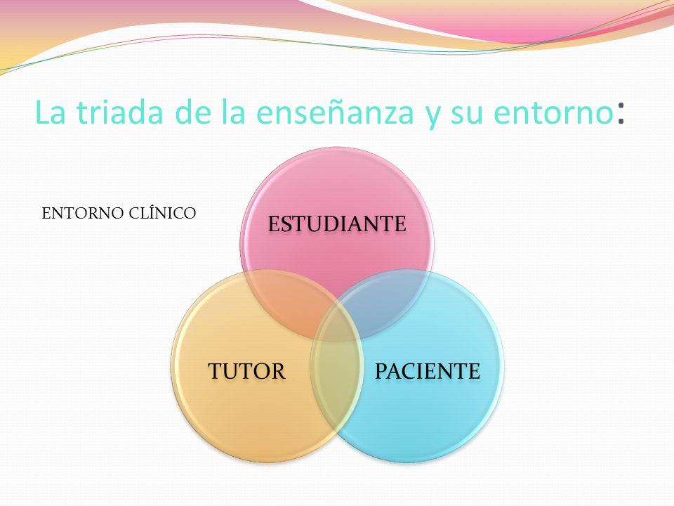 La triada de la enseñanza y su entorno: