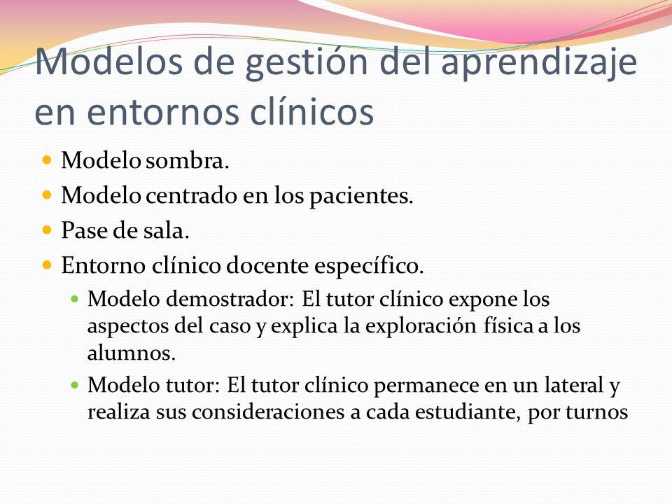 Modelos de gestión del aprendizaje en entornos clínicos
