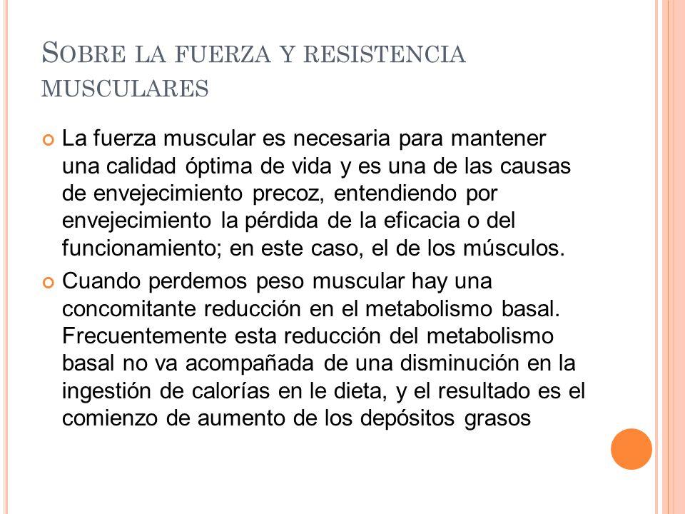 Sobre la fuerza y resistencia musculares