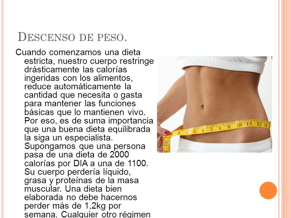 Descenso de peso.