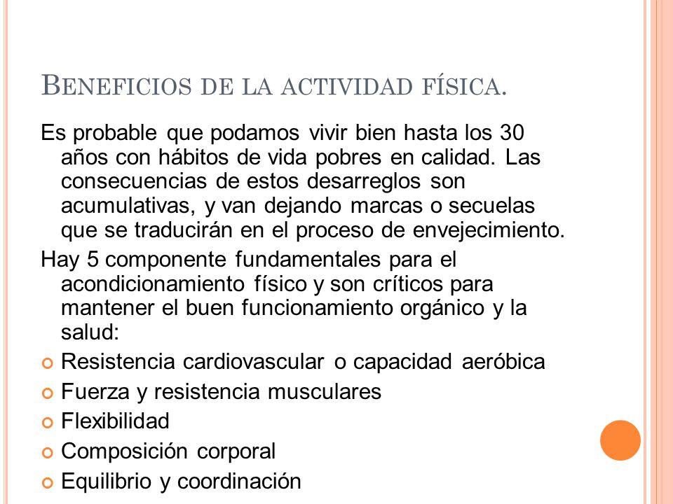 Beneficios de la actividad física.