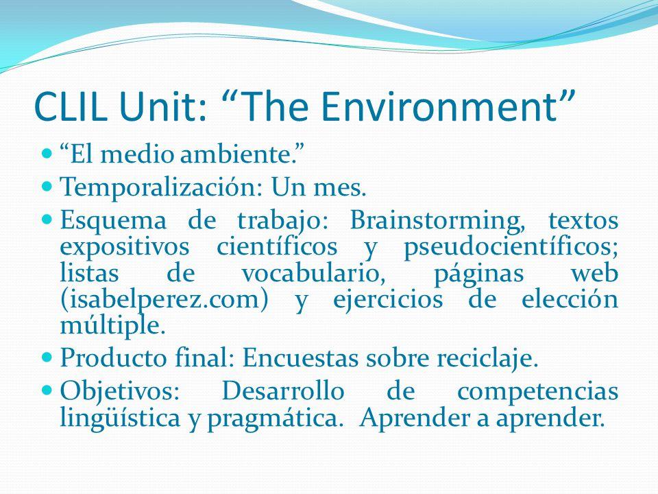 CLIL Unit: The Environment