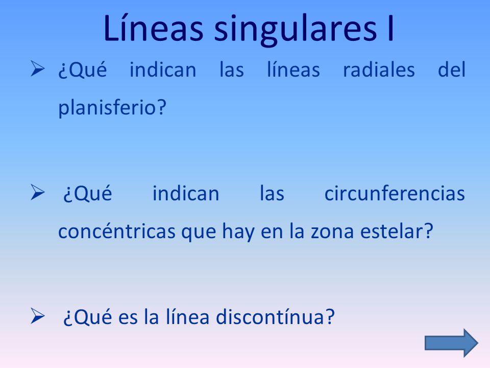 Líneas singulares I ¿Qué indican las líneas radiales del planisferio