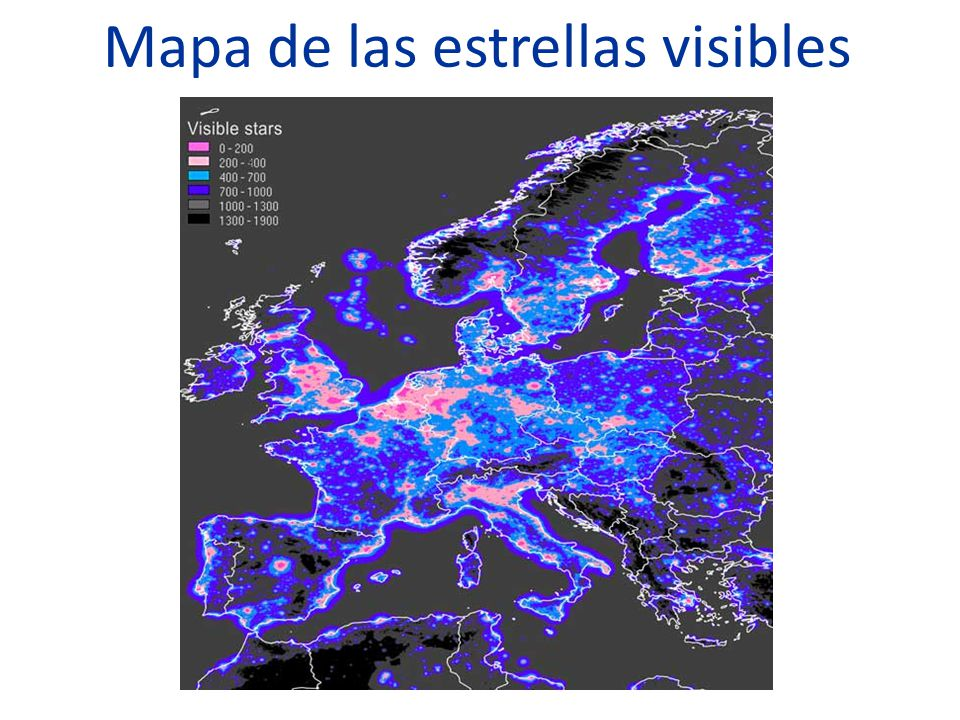 Mapa de las estrellas visibles