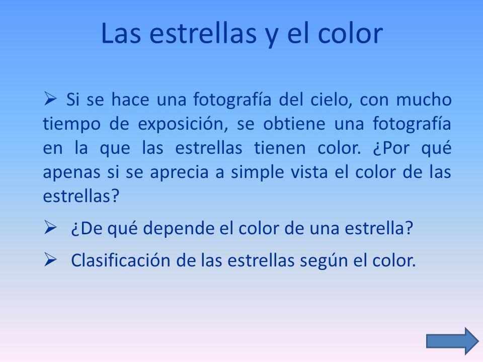Las estrellas y el color