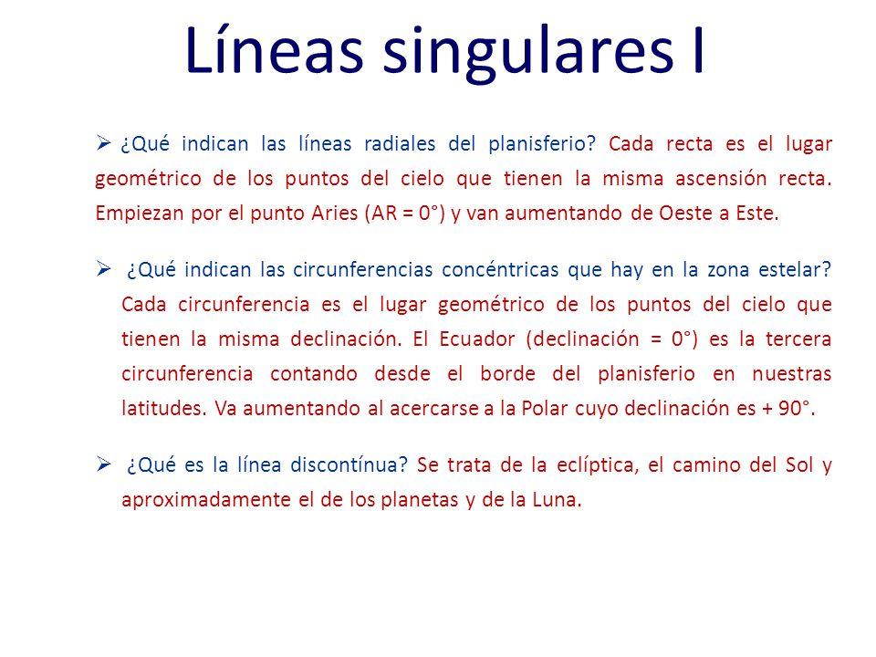 Líneas singulares I