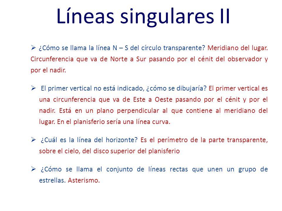 Líneas singulares II