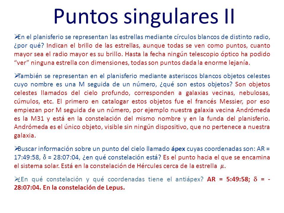 Puntos singulares II