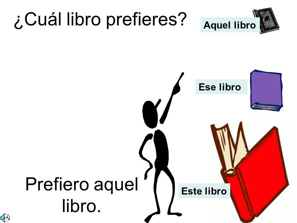 ¿Cuál libro prefieres Prefiero aquel libro. Aquel libro Ese libro