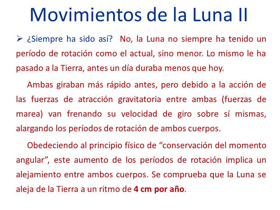 Movimientos de la Luna II