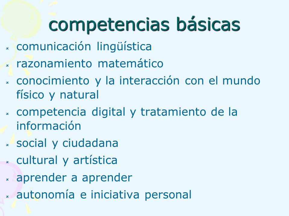 competencias básicas comunicación lingüística razonamiento matemático