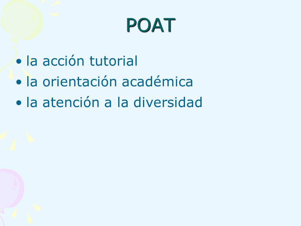 POAT la acción tutorial la orientación académica