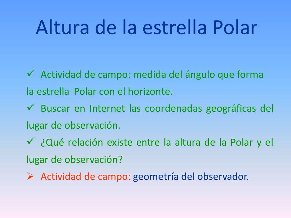 Altura de la estrella Polar