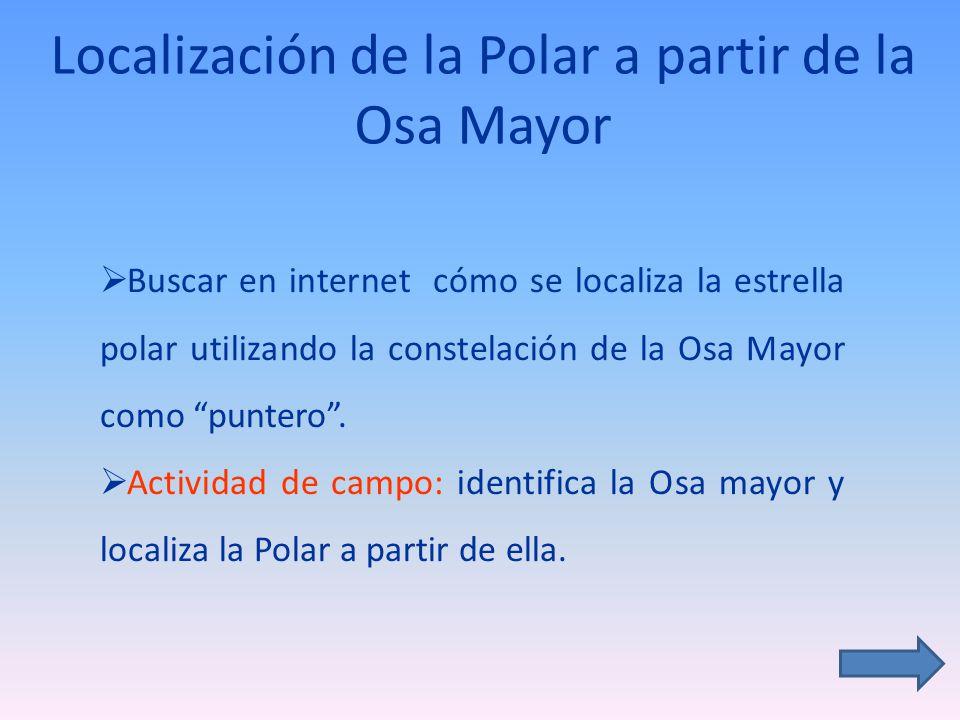 Localización de la Polar a partir de la Osa Mayor