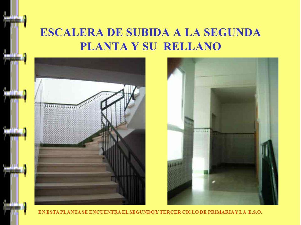 ESCALERA DE SUBIDA A LA SEGUNDA PLANTA Y SU RELLANO