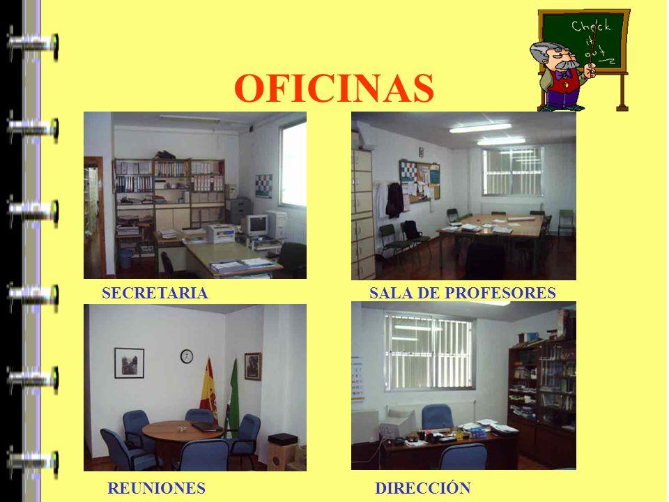 OFICINAS SECRETARIA SALA DE PROFESORES REUNIONES DIRECCIÓN