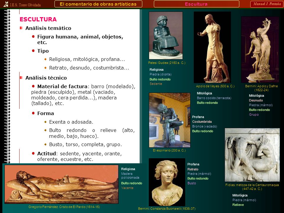 ESCULTURA El comentario de obras artísticas Escultura