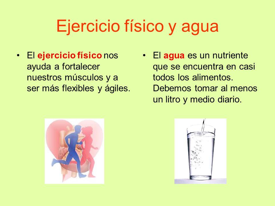 Ejercicio físico y agua