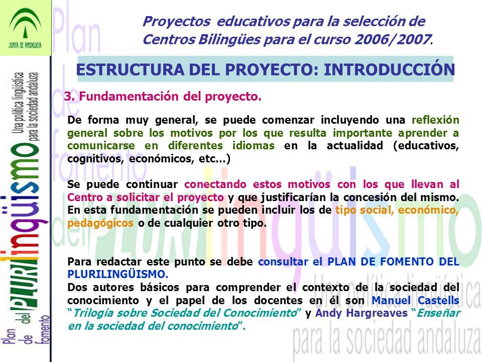 ESTRUCTURA DEL PROYECTO: INTRODUCCIÓN
