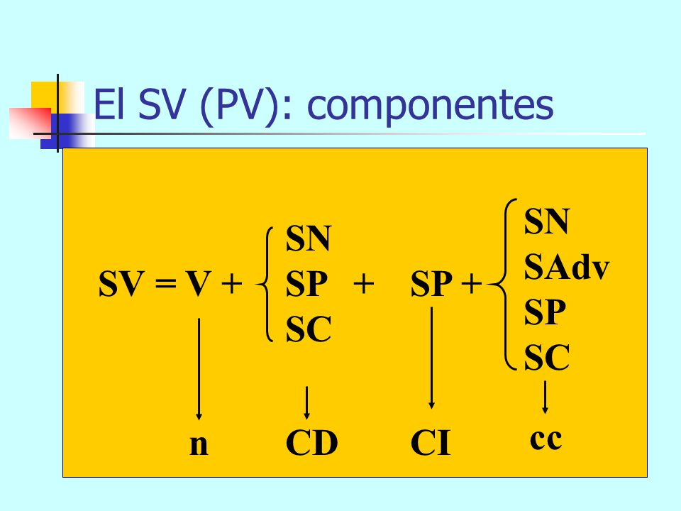 El SV (PV): componentes