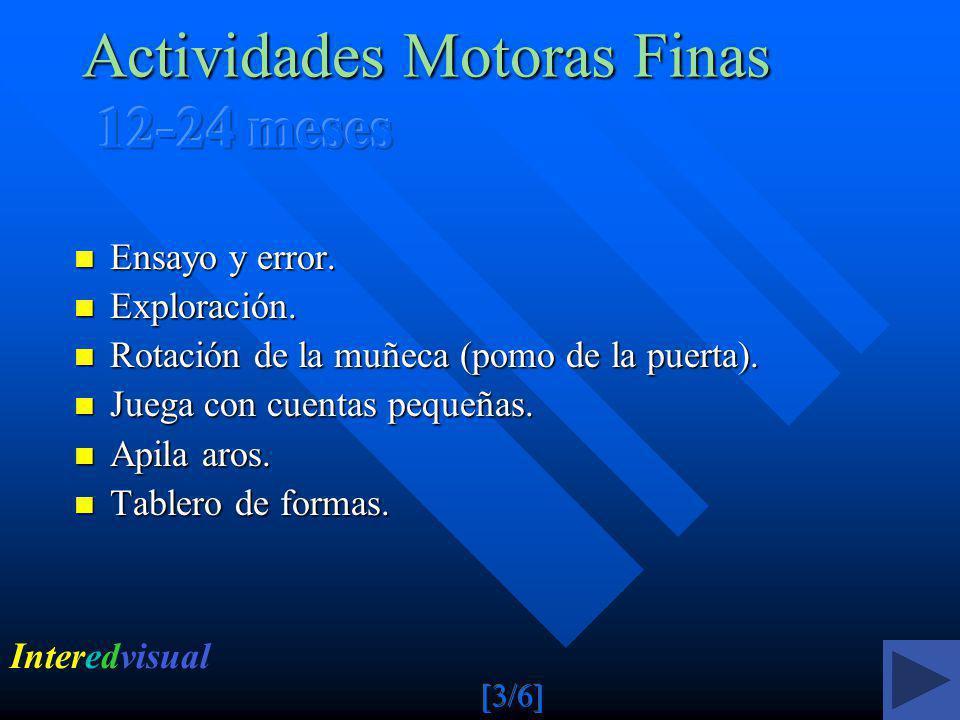 Actividades Motoras Finas 12-24 meses