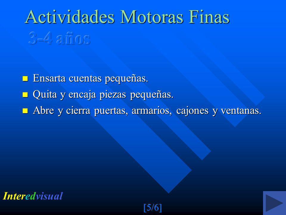 Actividades Motoras Finas 3-4 años