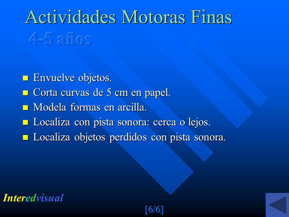 Actividades Motoras Finas 4-5 años