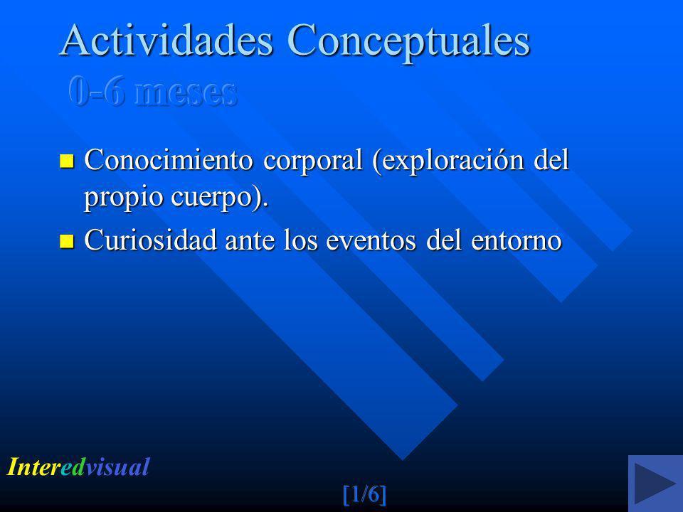 Actividades Conceptuales 0-6 meses