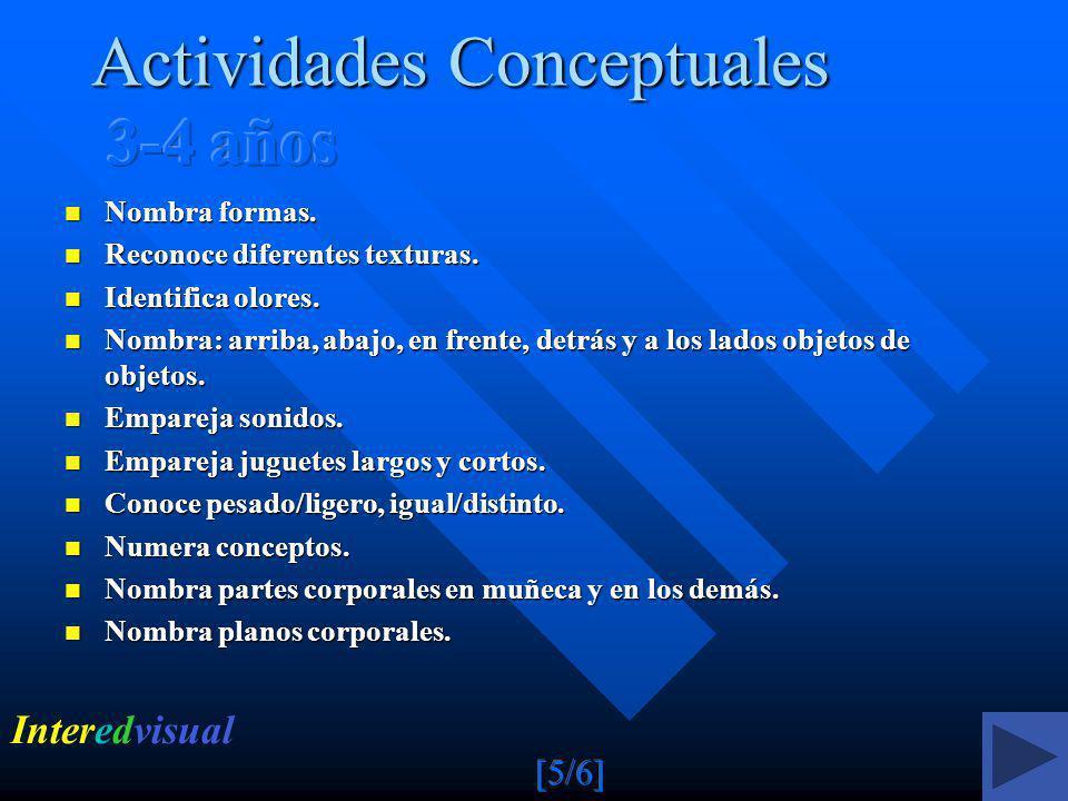 Actividades Conceptuales 3-4 años