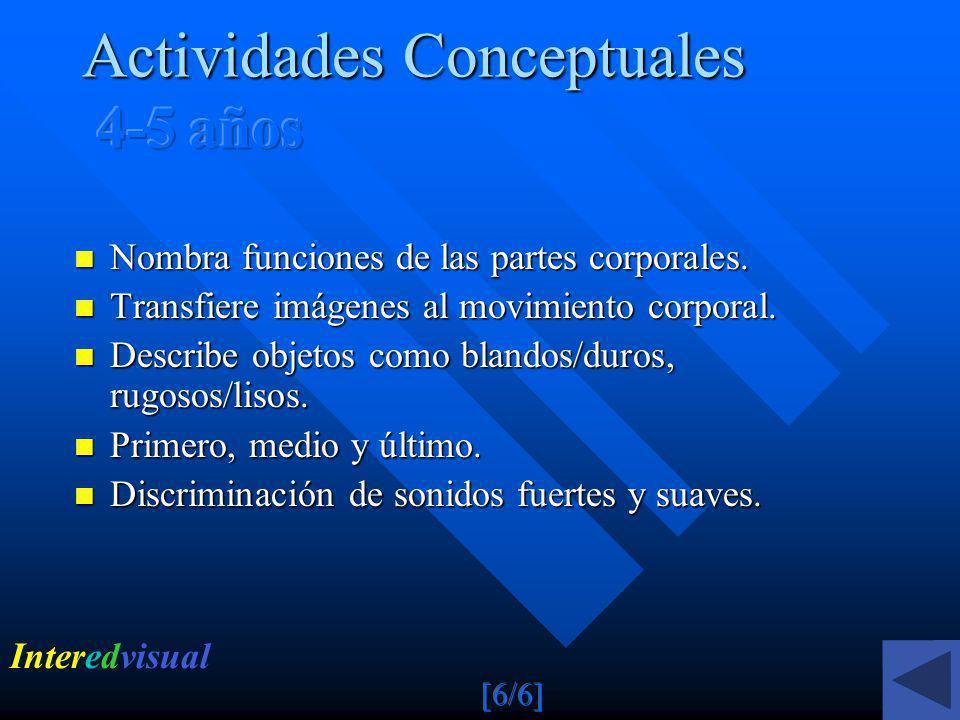 Actividades Conceptuales 4-5 años
