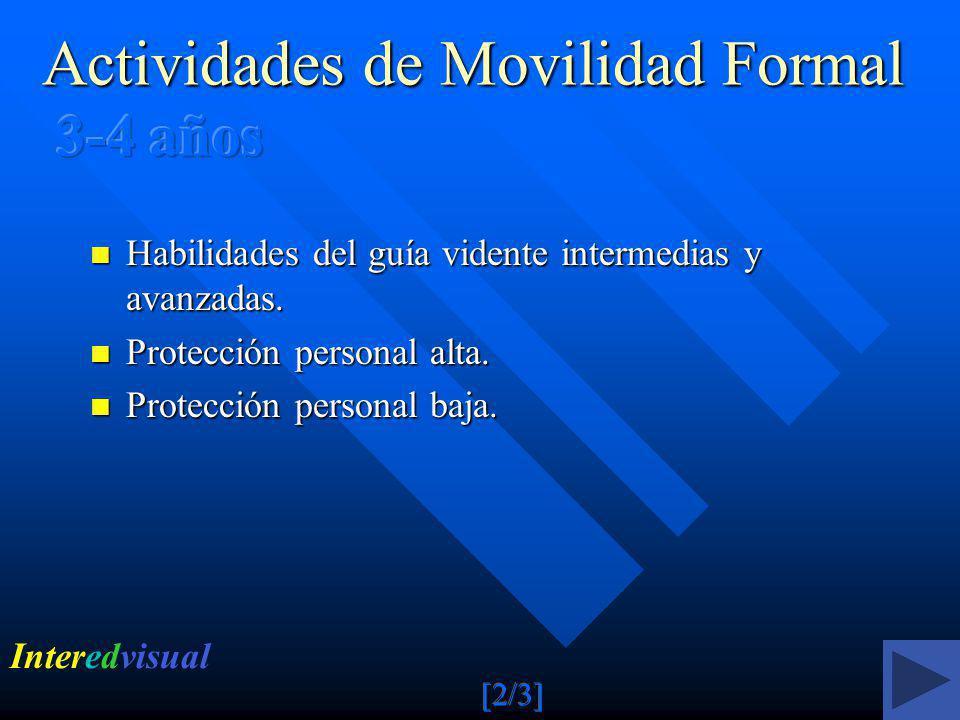 Actividades de Movilidad Formal 3-4 años