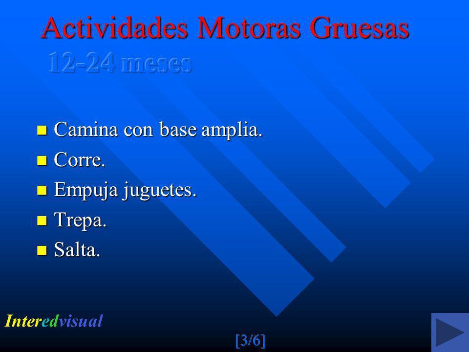 Actividades Motoras Gruesas 12-24 meses