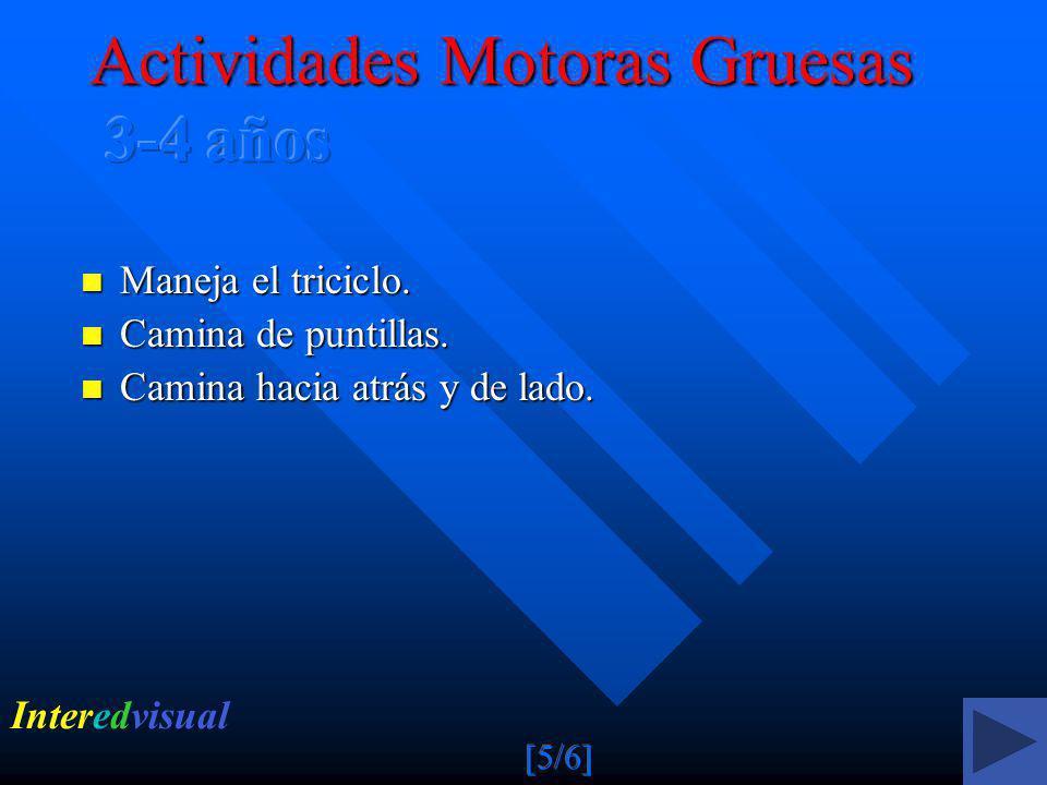 Actividades Motoras Gruesas 3-4 años