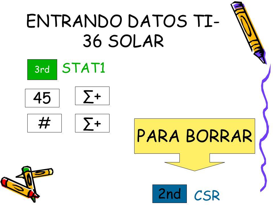 ENTRANDO DATOS TI-36 SOLAR