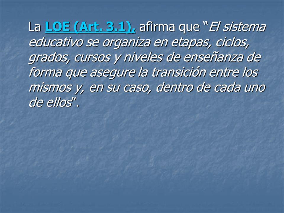 La LOE (Art.