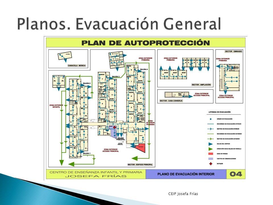 Planos. Evacuación General