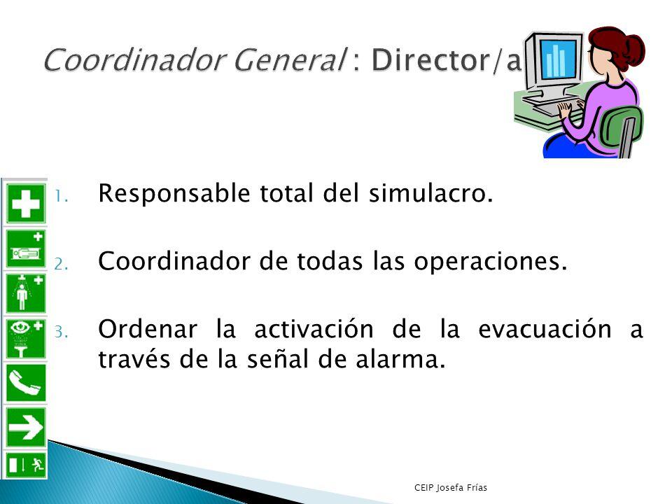 Coordinador General : Director/a