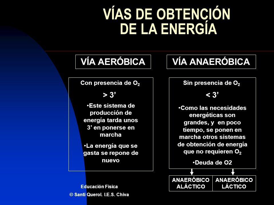 VÍAS DE OBTENCIÓN DE LA ENERGÍA