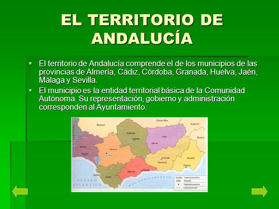 EL TERRITORIO DE ANDALUCÍA