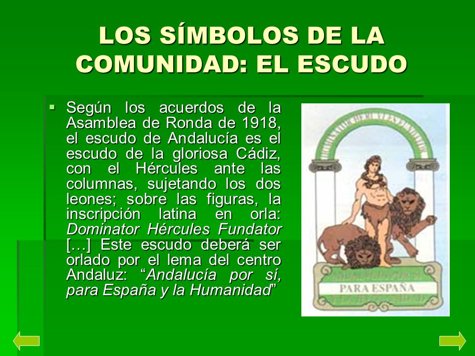 LOS SÍMBOLOS DE LA COMUNIDAD: EL ESCUDO