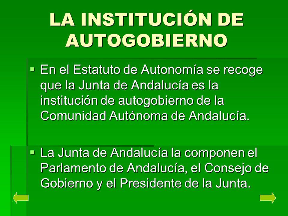 LA INSTITUCIÓN DE AUTOGOBIERNO